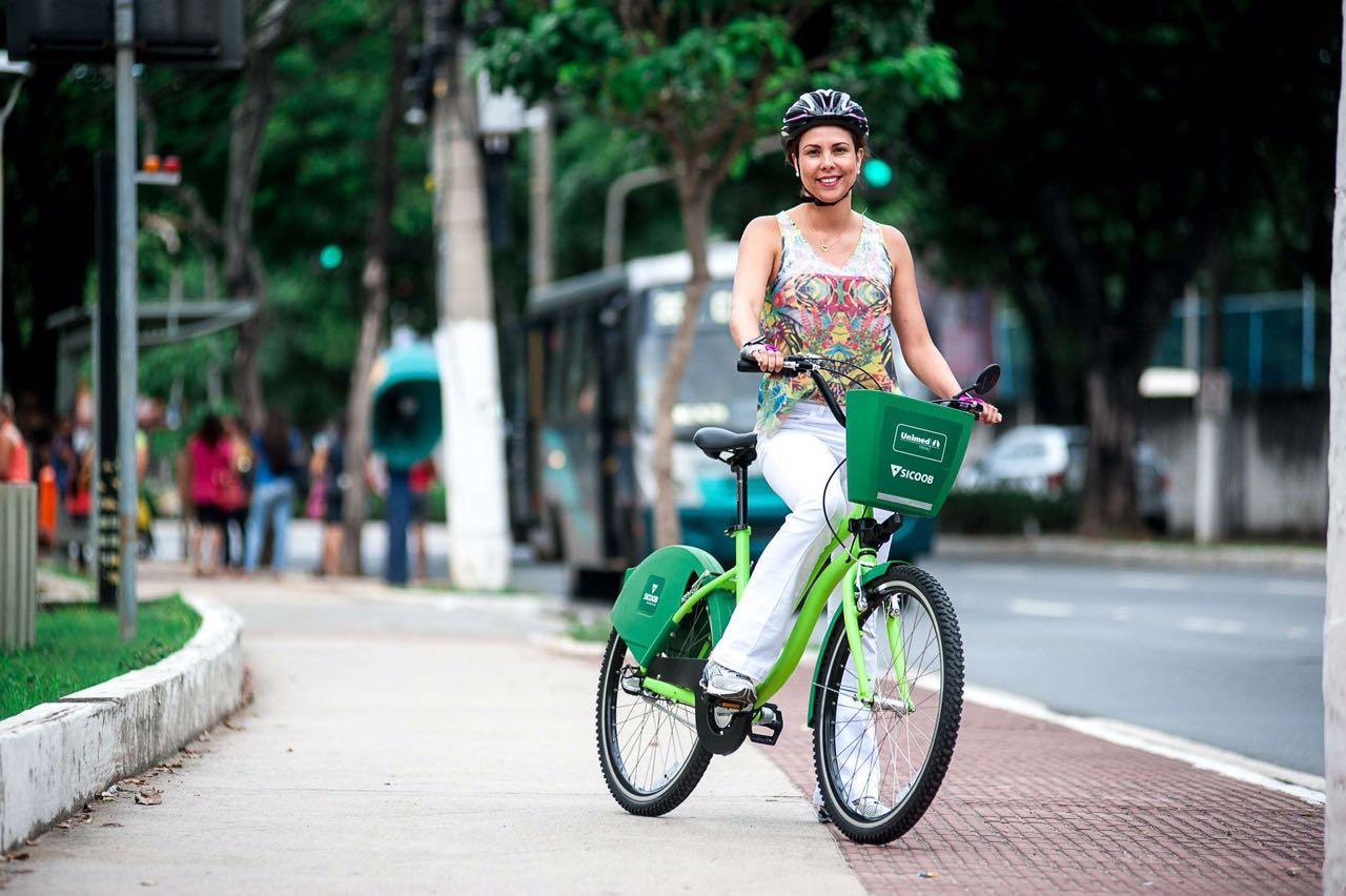 Sicoob é parceiro em projeto de compartilhamento de bicicletas